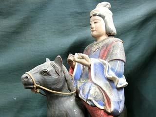 岐阜県 木彫 馬上観音菩薩像