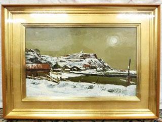 樋口洋「石狩挽歌」油彩画