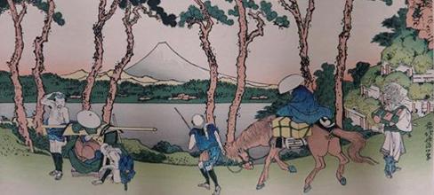 葛飾北斎 富嶽三十六景東海道程ヶ谷 木版画