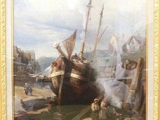 ウジェーヌ・イザベイ 風景 油彩画