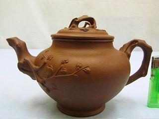中国宜興 紫泥 梅茶壷