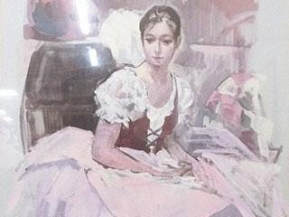 吉野谷幸重「踊り子」油彩画