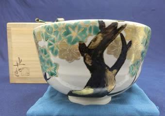 白井半七 色絵茶碗 抹茶碗