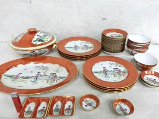 景徳鎮 粉彩瓷 食器