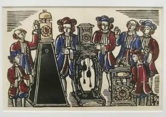 川上澄生「櫓時計と南蛮人」