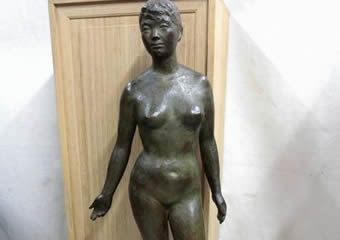 伊藤五百亀 ブロンズ 裸婦像