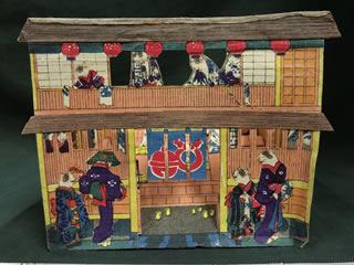 歌川芳藤 猫の銭湯屋
