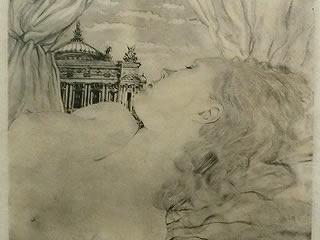 銅版画 藤田嗣治 裸婦