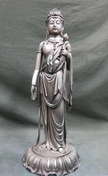 高村光雲 銀製 観音菩薩 銀仏像