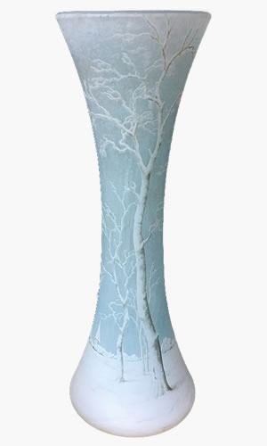 風景画 花瓶