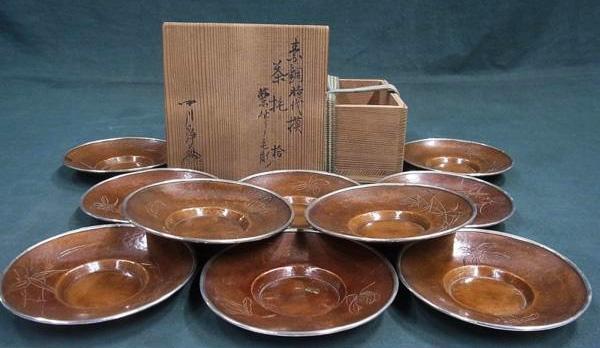 中川浄益 素銅茶托
