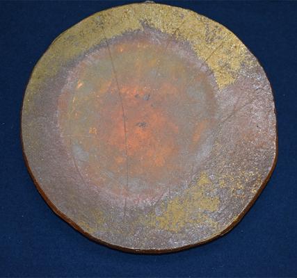 北大路魯山人 灰被りすすき文備前焼飾皿