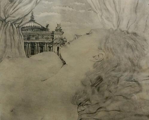 藤田嗣治 オペラ座の夢 銅版画