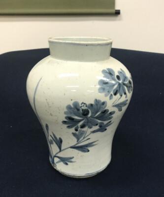 李朝染付花瓶